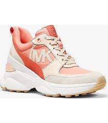 mk sneaker mickey in materiale misto - desert flwr - michael kors