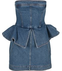 philosophy bustier denim dress