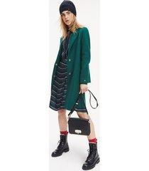 tommy hilfiger women's boiled wool coat rain forest - 12