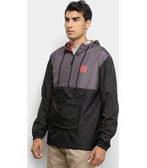 jaqueta corta vento element bicolor masculina
