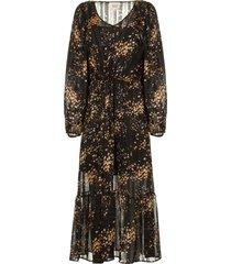 jurk met print snora  zwart