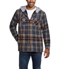 weatherproof vintage men's sherpa lined shirt jacket with hood