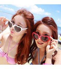 new summer love heart shaped sunglasses goggles sun glasses for women