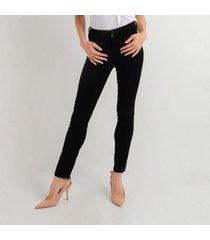 jean negro para mujer tipo skinny ajustado d97407