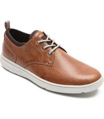 zapatos rockport oxford zaden plain toe-beige-cafe