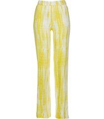 pantaloni in viscosa con elastico in vita (giallo) - bpc selection
