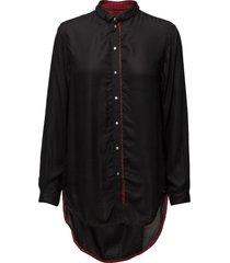 c-arya shirt overhemd met lange mouwen zwart diesel women