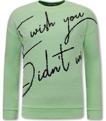 sweater tony backer tekst mint