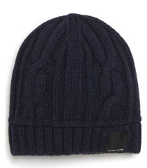 canada goose cabled merino wool toque beanie - blue