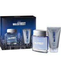 kit fiorucci wall street deo colonia 100ml + shampoo 3 em 1 150ml masculino
