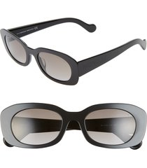 women's moncler 52mm oval sunglasses -