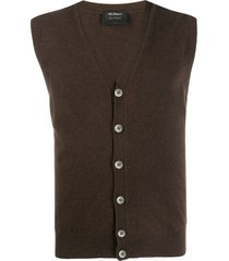 dell'oglio sleeveless cardigan - brown