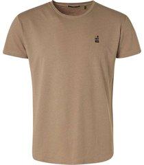 no excess t-shirt crewneck garment dyed with khaki
