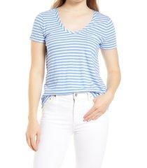 women's caslon rounded v-neck t-shirt, size xx-large - white