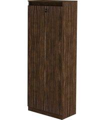 armário alto 2 portas com chave nogal tecno mobili