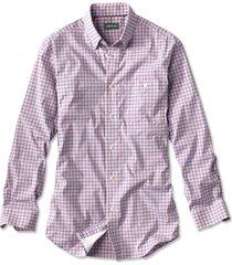 northport hidden-button-down shirt, blue/tangerine, xx large