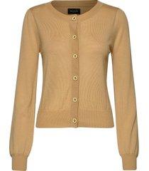 cool wool w - isamu stickad tröja cardigan beige sand