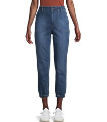 joe's jeans women's high-waisted cropped jogger jeans - blue - size 32 (10-12)