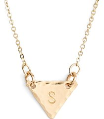 nashelle 14k-gold fill initial triangle necklace in 14k gold fill s at nordstrom