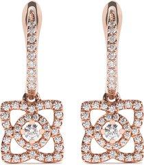 de beers 18kt rose gold enchanted lotus diamond sleeper earrings