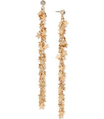 bcbgeneration gold-tone crystal & shaky star linear drop earrings