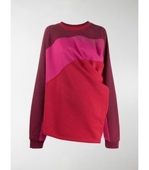 y/project contrast panel draped sweater