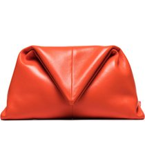 bottega veneta clutch envelope - laranja