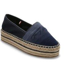 tommy gradient espadrille sandaletter expadrilles låga blå tommy hilfiger