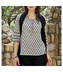cotton tunic, 'paisley dance' (india)