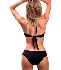 panty tipo bikini golden jessie de la rosa lingerie para mujer - negro