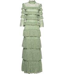 carmine maxi dress maxiklänning festklänning grön by malina