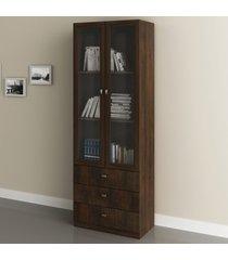 armário para escritório 2 portas 3 gavetas  rústico v - tecno mobili