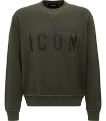 dsquared2 sweatshirt with icon macro logo