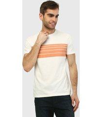 camiseta blanco-coral gap
