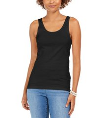 style & co petite cotton tank top, created for macy's