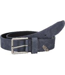 cinturón cuero azul panama jack