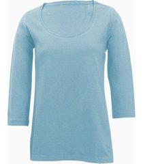 shirt met ronde hals voor haar, bleu 46