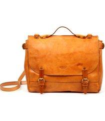 old trend sandstorm leather messenger bag