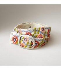 women's poppy fields wool belt