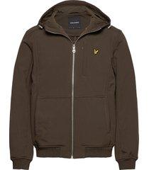 softshell jacket tunn jacka brun lyle & scott