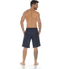 pantaloneta de baño sublimada, color azul para hombre
