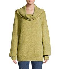 cowlneck knit sweater