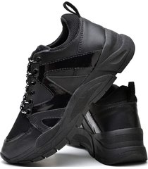 tãªnis sapatãªnis plataforma fashion dubuy 732el preto - preto - feminino - sintã©tico - dafiti