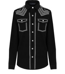 limited studs blouse black