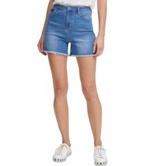 dkny jeans juniors' cutoff high-rise jean shorts