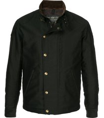 addict clothes japan military boa jacket - black
