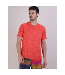 camiseta masculina ace manga curta raglan gola careca laranja