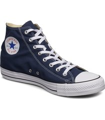 all star canvas hi höga sneakers blå converse