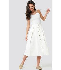 na-kd trend cargo a-line ankle skirt - white