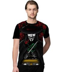 camiseta stompy anonymous masculina
